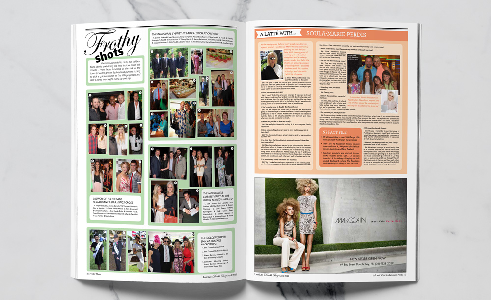 latte life publication layout design