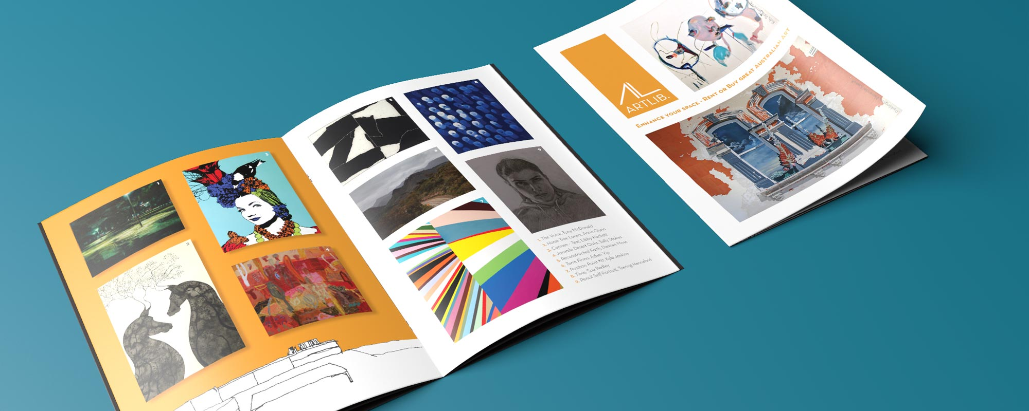 ArtLib A5 brochure design
