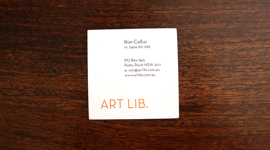 ArtLib logo business card branding