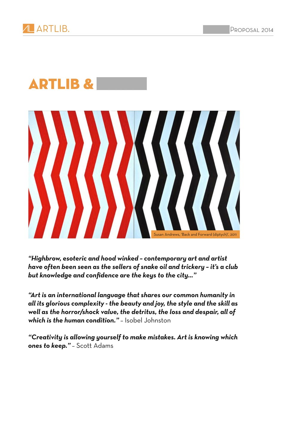 artlib proposal document design