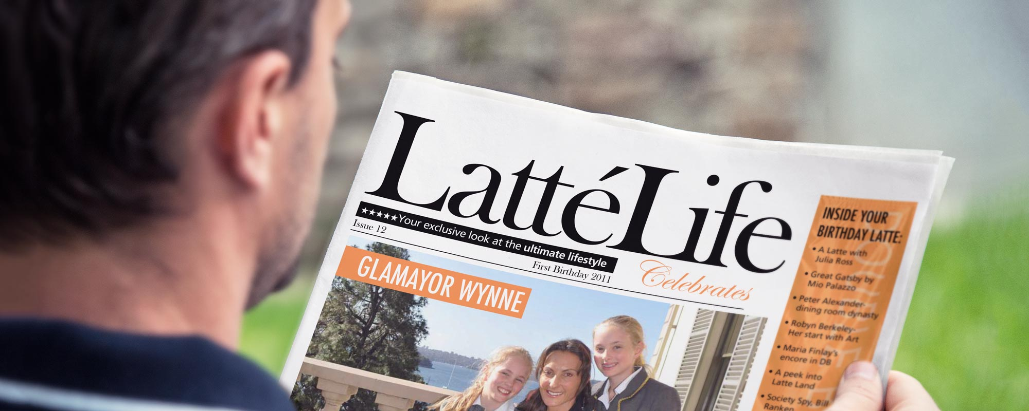 latte life newspaper publication mockup